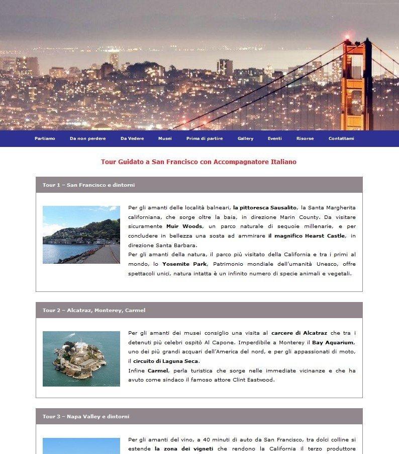 Sito per Viaggi Organizzati a San Francisco